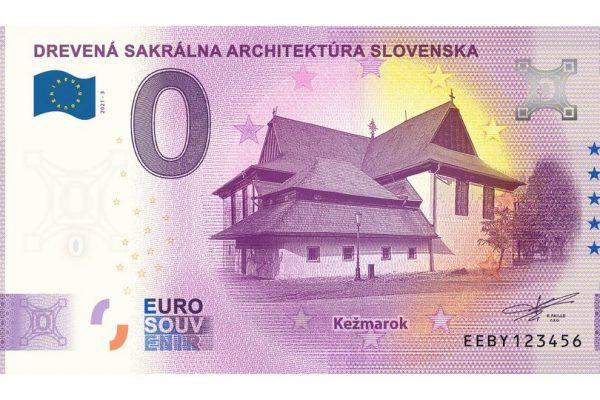 Predaj NULA eurovej bankovky Drevený kostol Kežmarok